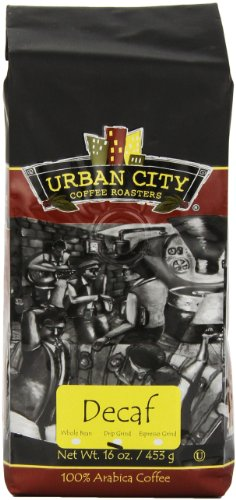 Urban City Coffee Urban Decaf Ground, 16-Ounce Bags (Pack Of 2)