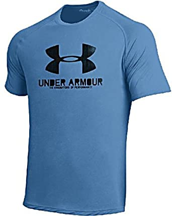 Under Armour Mens Carolina Blue Poly Dry HeatGear NuTech Performance Shirt by Under Armour