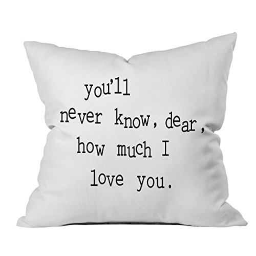 Oh, Susannah you'll never know, dear, how much I love you. 18x18 Inch Throw Pillow Cover