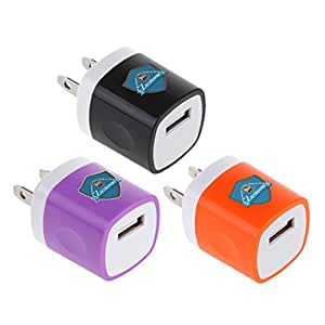 3 Pcs High Quality USB Ac Universal Power Home Wall Travel Charger Adapter Compatible for Iphone 6/6 Plus, 5/5c/5s, Iphone 4s/4 3gs/3g, Ipad Mini, Ipod Touch, Ipad Air, Ipad Air 2, Ipod Touch, Samsung Galaxy S5 S4 S3, Samsung
