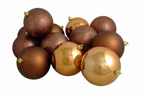 Vickerman 4-Finish Ball Ornament, 100mm, Mocha