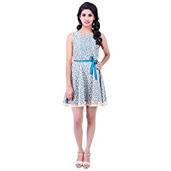 FBBIC Women's Party Wear Smart Net Dress