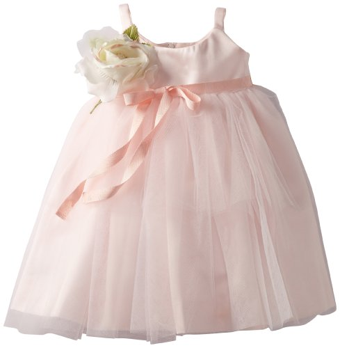 Us Angels Baby-Girls Infant Ballerina Inspired Dress, Blush Pink, 12 Months