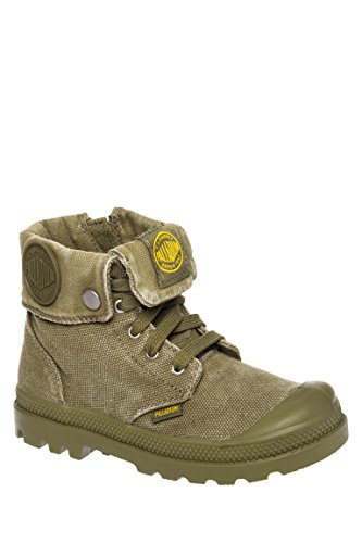 Kid's Baggy Zipper Lace-Up Combat Boot