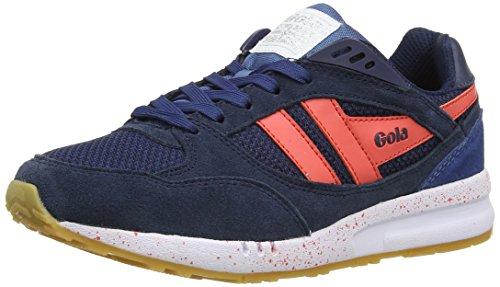 Gola Women's Shinai Fashion Sneaker, Navy/Coral/Flint, 8 M US