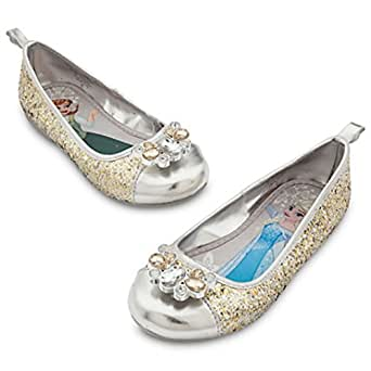 Anna Elsa Frozen Halloween Costume Shoes Silver Gold 10, 11, 12, 13 Disney