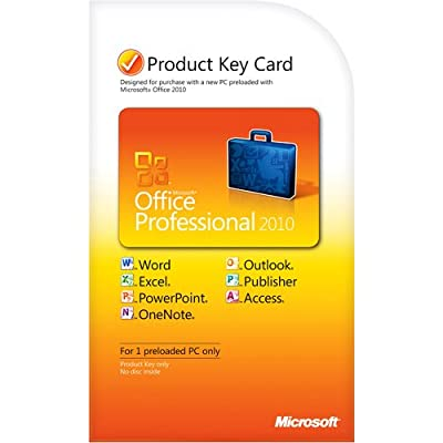 Office 2010 Professional Key Card