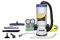 ProTeam Super CoachVac HEPA Commercial Backpack Vacuum w/ Versatile Tool Kit & 2 pc wand, 10 quart