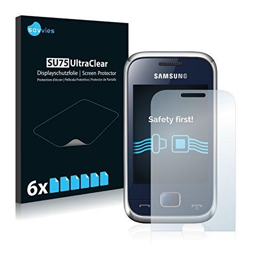 6x Displayschutzfolie für Samsung Rex 60 - Displayschutz Ultra-Transparent