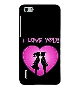 EPICCASE Couple love Mobile Back Case Cover For Huawei Honor 6 (Designer Case)