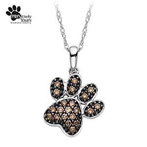 1/5 ct. tw. cocoa diamond® Paw Pendant in 10K White Gold