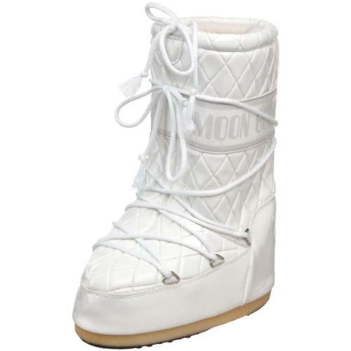 Tecnica Moon Boot Women's Queen Winter Boot,White,31-34 EU (13-2.5 M US Little Kid)
