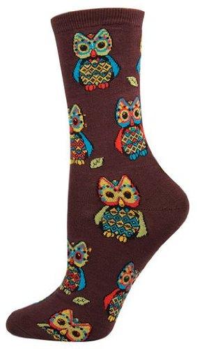 Socksmith Women's Hoot Socks in Chestnut