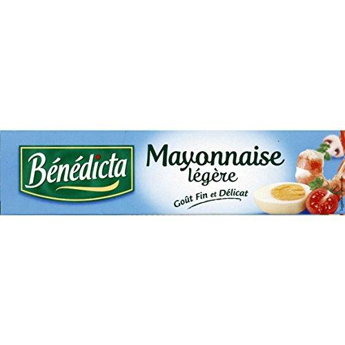Bénédicta - Mayonnaise extra légère, moins de 10% de MG, en tube - La boîte de 190g - (pour la quantité plus que 1 nous vous remboursons le port supplémentaire)