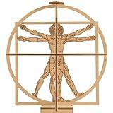 Revell 00509 Leonardo Da Vinci 1:16 Scale Vitruvian Man Wooden Model Kit