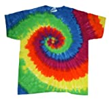 Tie-Dye T-Shirt Short Sleeve 100% Cotton (Large, Moondance)