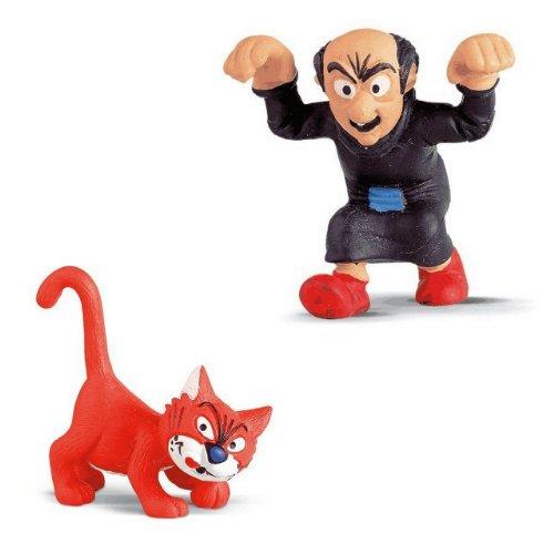 Buy Low Price Bundles of Fun Gargamel & Azrael Smurf Figures Bundle of 2 Toys plus a * (B0050RAE5O)