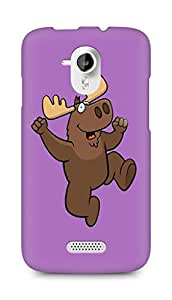 Amez designer printed 3d premium high quality back case cover for Micromax Canvas HD A116 (Deer drawing art colorful jump)