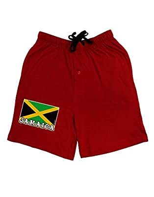 TooLoud Jamaica Flag Dark Adult Lounge Shorts