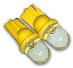 TuningPros LEDCK-T10-Y1 Clock LED Light Bulbs T10 Wedge, 1 LED Yellow 2-pc Set