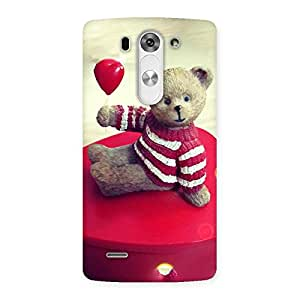 Impressive Red Heart Teddy Back Case Cover for LG G3 Beat