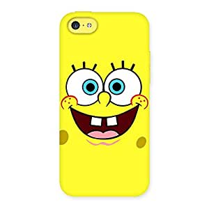 Premium Spong Yellow Back Case Cover for iPhone 5C