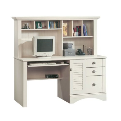 buy best antique white computer desk w hutch file cabinet drawer
