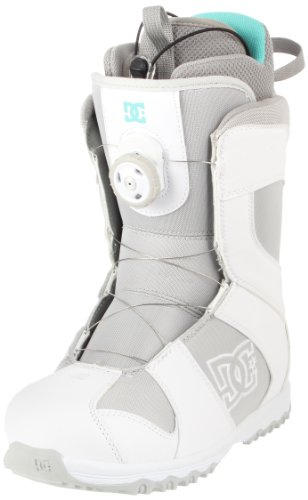 DC Women's Search 2012 Performance Snowboard Boot,White,8.5 M US
