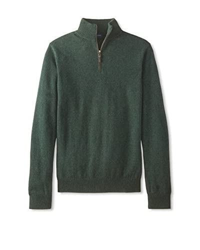 Thirty Five Kent Men's Cashmere Suede Piping Quarter Zip