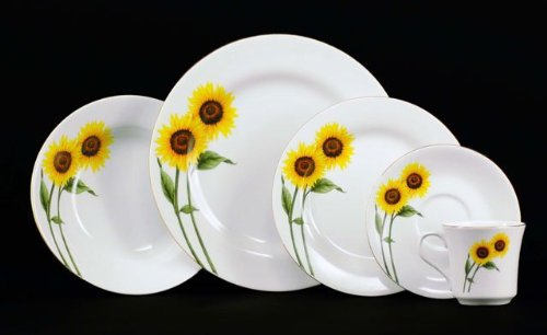 Buy Now 2013 Euland China DSFL2-003S Sunflower Dinnerware Set ...