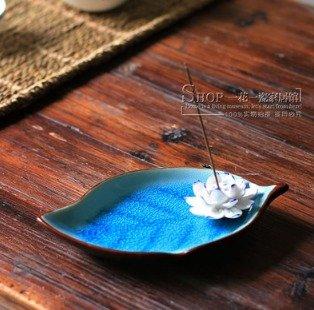 Quemadordeinciensorecipientesoporte Azul Vidrio flor
