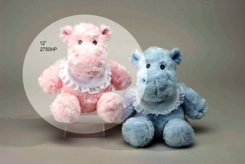 "Pink Hippo Rattle 12"" by Unipak"