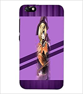 PrintDhaba Cute Girl D-3039 Back Case Cover for HUAWEI HONOR 4X (Multi-Coloured)