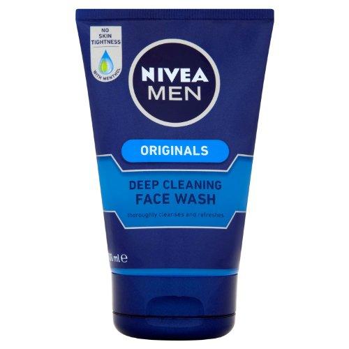 Uomini Nivea pulizia profonda Face Wash 100 ml - Confezione da 3