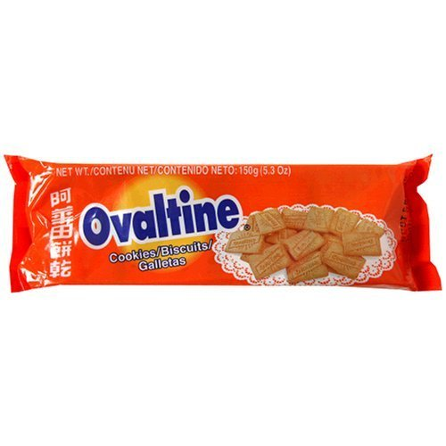 Ovaltine Biscuits, 150-Gram Packages (Pack of 24)