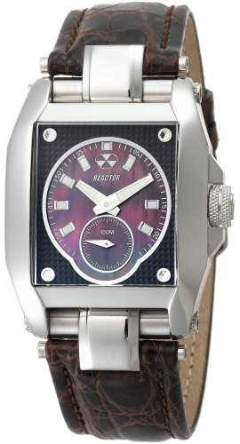REACTOR Men's 95319 Fusion Chocolate Pearl Dial Crocodile Strap Watch