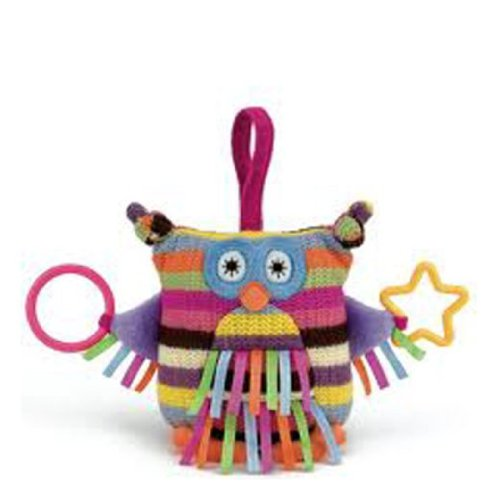 "Jellycat® Pink Hoot Owl Activity Toy - 6"" front-790528"