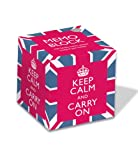 Museums and Galleries Marketing. Help for Heroes Charity 8x8x8.3cm Keep Calm and Carry on Memo Block
