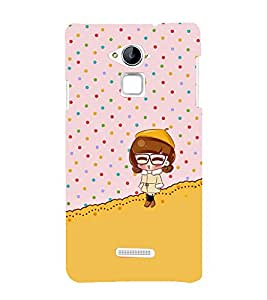 Fuson Premium Back Case Cover Cute baby With white Background Degined For Coolpad Note 3