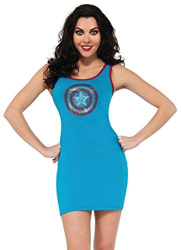 Rubie's Costume Women's Marvel Universe Captain America Rhinestone Tank Dress, Multi, Large