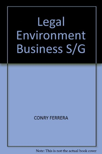 Legal Environment Business S/G