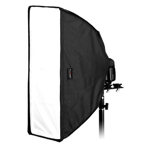 "Fotodiox Ez-Pro Flash Softbox K2560 10"" x 24"" (25cm x60cm) Rectangle for Nikon Flash, Canon Speedlight, for Nikon SB-600, SB-700, SB-800, SB-900, SB-910 Flash, Canon Speedlite 380EX, 430EX, 430EX II,"