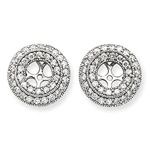 14k White Gold Diamond Earring Jackets.