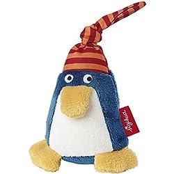 sigikid, Mädchen und Jungen, Greifling und Rassel Pinguin, Blau/Rot, 41184