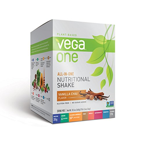Vega One All-In-One Nutritional Shake, Vanilla Chai, 10 Count front-60345