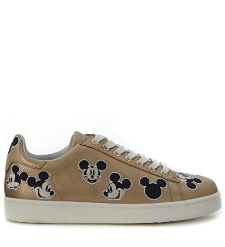 Baskets MoA Mickey Mouse en cuir or