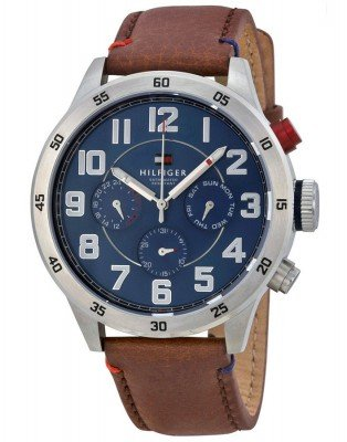 Tommy-Hilfiger-Mens-1791066-Analog-Display-Quartz-Brown-Watch