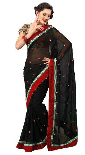 Chirag Sarees Chiffon Black Natasha- B Saree