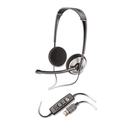 Plantronics - .Audio 478 Binaural Over-The-Head Corded Headset Audio478 (Dmi Ea