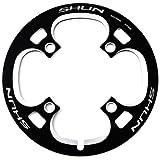 バッシュガード SHUN 44T BCD104mm CNC チェーンガード MTB チェーンリングカバー PCD104mm (ブラック 黒)